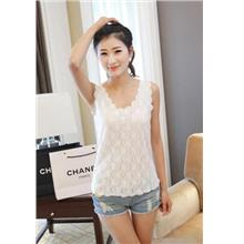 Lovely Lace Double-Layer Singlet