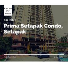 Prima Setapak Condo for rent, Fully Furnished, 2 Car Parks, Setapak