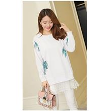 FairyCity Korean Maternity Bow Lace Long-Sleeve T-Shirt [Pre-Order] OL