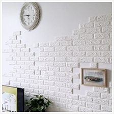 10 Pieces 3D Bricks Wall Stickers Waterproof and Self-Adhesive