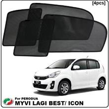 Perodua Myvi Lagi Best 2012 Custom Fit OEM Sunshades (4pcs)