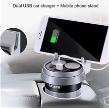 Practical Cup Car Charger Multi-function Display Double USB Car Charge..