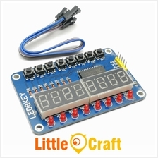 TM1638 8-Digit 7-Segment with 8-LEDs and 8-Push Buttons Module