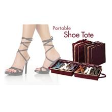 *Shoe Tote Shoes Organizer ^Storage Bag Hold 6 Pair of Shoes