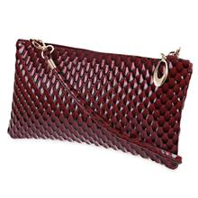 Guapabien Trendy Plaid Pattern Women Handbag Shoulder Messenger Envelo..