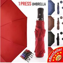 Korea Style Foldable ONE CLICK ONLY Automatic Open & Close Umbrella