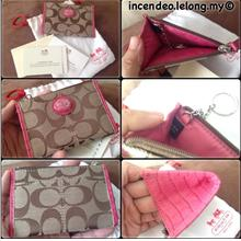 **incendeo** - Authentic C O A C H Pink Coin Purse