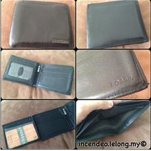 **incendeo** - Authentic F0SSIL Black Trifold Zipper Leather Wallet