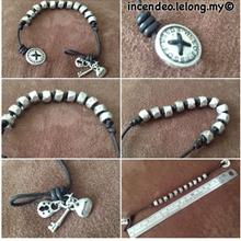 **incendeo** - Authentic F0SSIL Leather Charm Bracelet