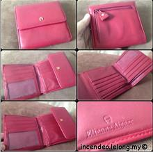 **incendeo** - Authentic E  A I G N E R Red Leather Purse for Ladies