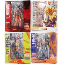 Dragon Ball SHF Son Gokou Super Saiyan Goku Vegeta Vegetto 16cm