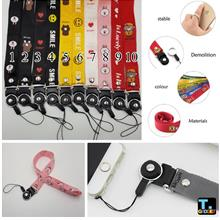 Removable Cartoon Lanyard Long Section Neck Strap keys ID Card Mobile