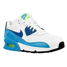 Nike Womens Air Max 90 White Green Abyss-blue Lagoon Essential Trainers  Shoes 3f71403417