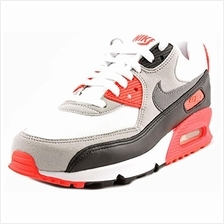 NIKE Air Max 90 OG Infra Red Mesh Womens Lifestyle Shoe White Grey Black 7346a91076