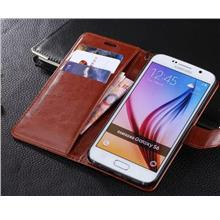 Cow Leather Case Flip Cover Samsung S5 Wallet Casing