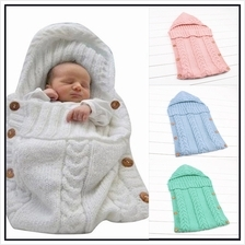 Knitted Blanket Handmade Wrap Super Soft Sleeping Bag Cotton For Baby Newborn