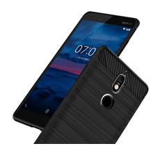 Carbon Fiber Pattern Case Nokia 7 Casing Rugged Cover
