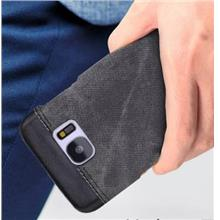 Denim Leather Casing Case Cover for S7 Edge