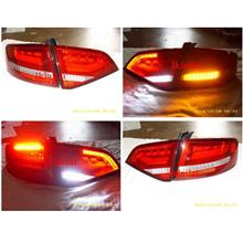 Audi A4 B8 `08 TAIL Lamp Crystal W/LED + Light Bar Red-Clear