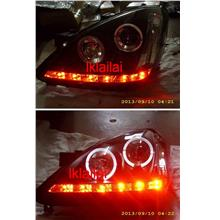 Toyota Avanza '07 Projector Head Lamp LED Ring + Red DRL