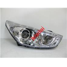 Hyundai Tucson IX35 '10-12 Projector Head Lamp LED DRL Eye Brown Chrom