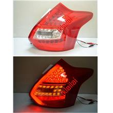 Ford Focus '13  LED Light Bar Tail Lamp [Red-Clear]