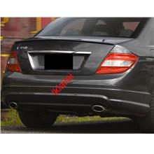 Mercedes Benz C-Class W204 `07 AMG Style Rear Bumper PP Twin Outlet