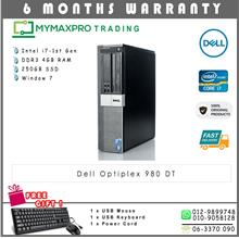 Dell Optiplex 980 DT Intel i7-1st Gen 4GB 250GB HDD Win 7 Desktop