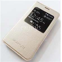 GOLD S View Flip Cover Hard Case Samsung Galaxy J1 (2016) /J120F *XPD