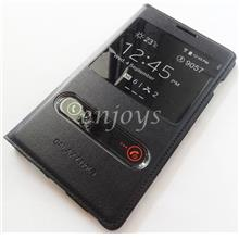 BLACK S View Flip Case Cover Samsung Galaxy Note 1 N7000 i9220 *XPD
