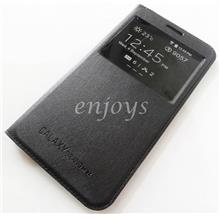 BLACK S View Flip Battery Case Samsung Galaxy Grand 3 G7202 G7200 *XPD