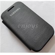 Chrome BLACK Flip Battery Cover Pouch Case for Samsung Rex 60 C3312R