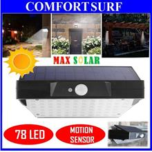 MaxSolar 78 LED Solar Power PIR Motion Sensor Waterproof  Wall Light
