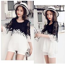 FairyCity Pregnant Lace Stitching Chiffon Two-Piece [Pre-Order] KMF-22
