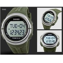 SKMEI Pedometer 3D Pulse Heart Rate Monitoring Watch SKM1058 Army