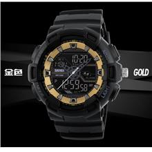 Dual Timer SKMEI Analog + Digital Men Watch SKM1189 GOLD