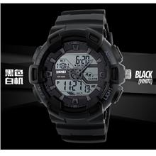 Dual Timer SKMEI Analog + Digital Men Watch SKM1189 BLACK