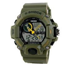 SKMEI Dual Timer Analog + digital Men Watch SKM1029 Army GREEN