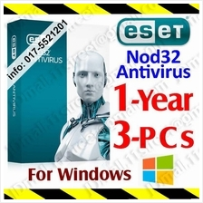 ESET Nod32 antivirus 2017 1YEAR/3PC anti virus Internet Smart Security