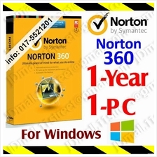 Symantec NORTON 360 1YEAR1PC anti virus antivirus windows