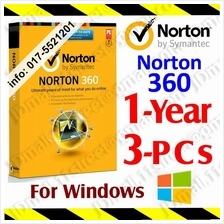 Symantec NORTON 360 1YEAR3PC anti virus antivirus windows