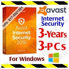 Av@st Internet Security 2017 3Year/3PC anti virus antivirus