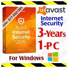 Av@st Internet Security 2017 3Year/1PC anti virus antivirus