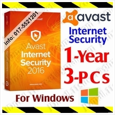 Av@st Internet Security 2017 1Year/3 PC anti virus antivirus