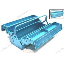 Extra Long 3 Tray 6 Compartment Cantilever Steel Tool Box 24' (BTBM504