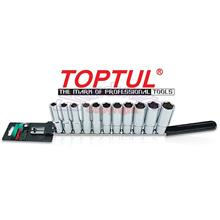 "Toptul 11Pcs 1/2""DR 6PT Deep Socket Rail Set 10-22mm (GAAQ1106)"