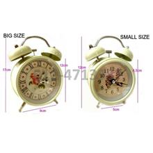 *Classic Twin Bell^Analog Metal Alarm Table Desk Clock