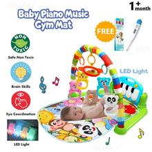 PRADO Kids Soft Fabric Musical Piano Toy LED Light Baby Play Mat