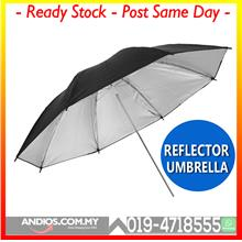 33inch Light Reflector Black Silver Umbrella Lighting Studio Kit