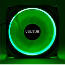 Super Quiet Ventus 12 cm Lune green 15 LED ring casing fan